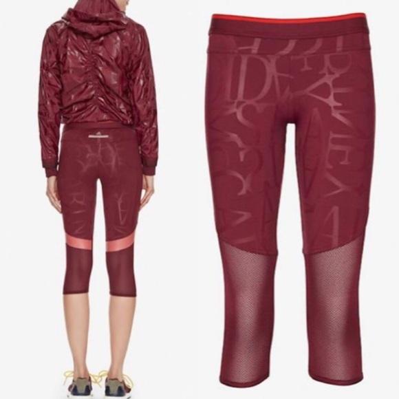 4f3f7297df232 Adidas by Stella McCartney Pants | Mesh Panel Logo Legging | Poshmark